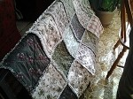 Rag Quilt Throw Civil War Reproduction 100% Cotton Material