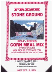 Linney Mills Stoneground White Cornmeal - 2lbs